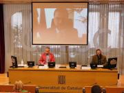 El vicepresident de la Generalitat, el president del CTESC i el ponent de l'informe